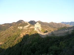 The day draws to a close on the Great Wall of China at Jinshanling.