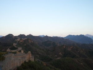 The day comes to a close on the Great Wall at Jinshanling.
