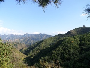 Working our way up to the Great Wall on the first day.