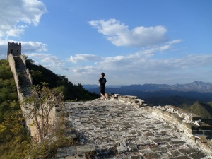 My friend, and experienced guide from Great Wall Adventures, Aaron Zhang, takes the lead out of West Simatai.