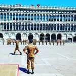 Marines in San Marco Square in Venice.