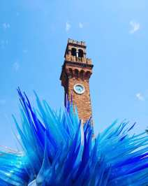 Bell tower on Murano in Venice.