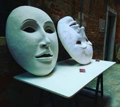 Venice masks for carnival.