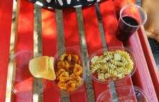Venice park bench picnic.