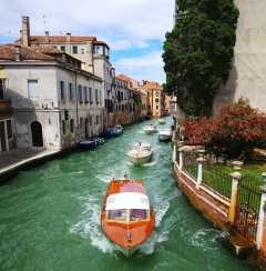 Venice water taxi.